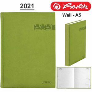 Herlitz Buchkalender Wall A5, Jahr / Farbe:2021 / grün