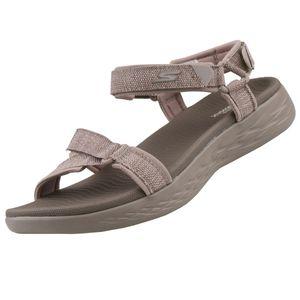 Skechers On the go Damen Sandalen Pantoletten Beige Schuhe, Größe:38