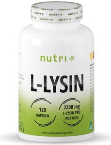 nutri+ vegane L-Lysin Kapseln, 120 Kapseln Dose