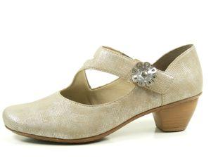 Rieker 47680 Schuhe Damen Slipper Pumps , Größe:41 EU, Farbe:Beige