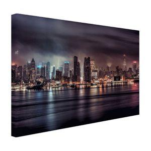 Leinwand Bilder - 30x20 cm - Dark New York City  - Modernes Wandbilder - Amerikanische Städte