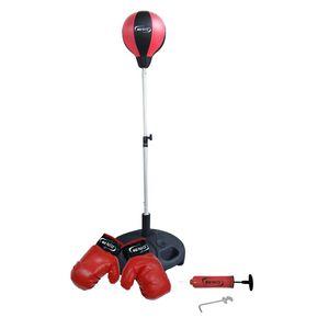Miles 18762 Punchingballset mit Boxhandschuhe+Pump
