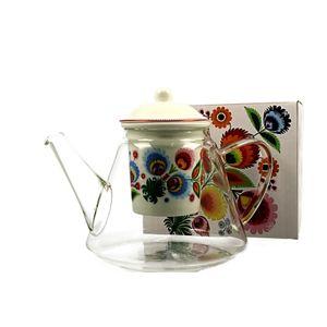 Teekanne Glas mit Porzellanfilter Spring 1,2L