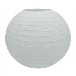 1 Lampion 20cm , Farbauswahl:weiß 029