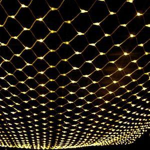 6X4m 880LED LED Lichterkette Lichternetz Lichtervorhang Innen Außen Weihnachtsbeleuchtung, Warmweiß