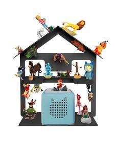 Tonie Box Regal, Regal für Kinder Sammelset Haus - Tonie Toniebox Zubehör - Geeignet für über 32 Tonies - Magnetisch beliebig fixierbar