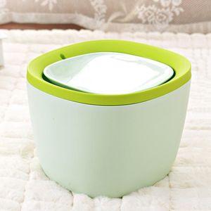 Mini mülleimer mülleimer mülleimer desktop aschenbecher abfall container bür Farbe Grün
