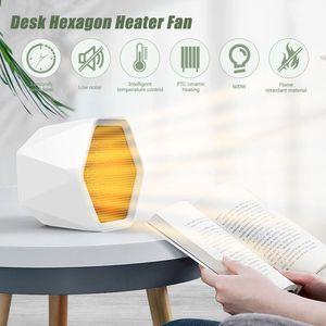 Schreibtisch-Sechskant-Heizluefter 3 Sekunden Hitzeeinstellbarer ueberhitzungsschutz Flammhemmende Huelle fuer das Home Office