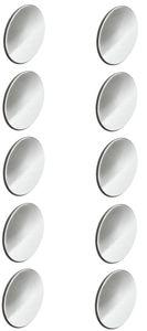 10x Abdeckkappen Selbstklebend 13mm verchromt chrom silber schraubenkappen Schrank Regal Bohrloch Abdeckung zum kleben