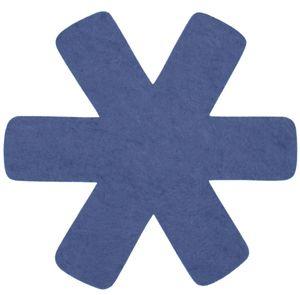 Steuber 3-tlg. Pfannenschutz blau, 100% Polyester, Beschichtungs-Schutz, schützt Pfannen vor dem Verkratzen, Kratzschutz