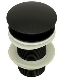 Waschbecken Abflussgarnitur Ablaufgarnitur ohne Überlauf Pop up Ablaufventil Universal in Schwarz