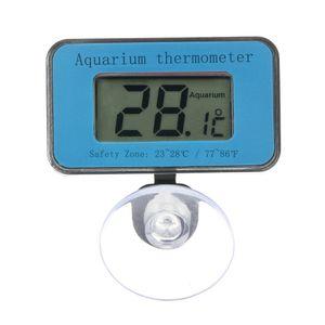 Digital LCD Aquarium Thermometer mit Saugnapf Wasserdicht Mini Indoor Aquarium Thermometer Temperaturmessung Display Aquarium Zubeh?r