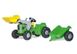 rolly toys Kiddy Futura grün Trettraktor + Kid Trailer + Kid Lader, Maße: 162x47x53,5 cm; 63 003 5