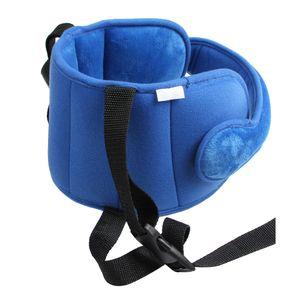 Kopfstütze Kindersitz Kopfband Kleinkind Auto kinderkopfstütze für Autositz, Verstellbarer Nackenstützen Kopfschutz Gürtel Schlafkissen Kopfhalterung, Blau
