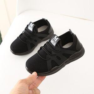 Kinder Kleinkind Kinder Baby Mädchen Jungen Letter Mesh Sport Run Sneakers Freizeitschuhe Größe:26.5,Farbe:Schwarz