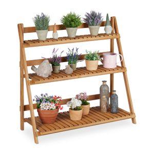 relaxdays Blumentreppe Holz
