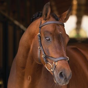 Horseware Rambo Micklem Multibridle  - brown, Größe:Warmblut (L)