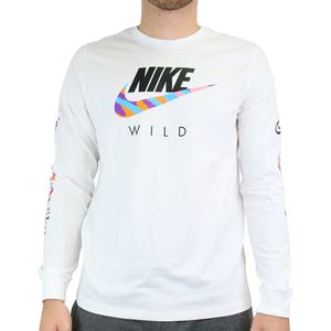 Nike Long-Sleeve T-Shirt Herren Weiß (DB6137 100) Größe: L