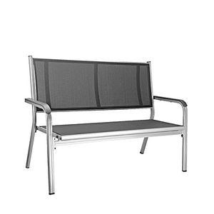 Kettler Basic Plus 2er-Gartenbank, Farbe Silber/Grau