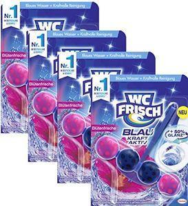 WC FRISCH Kraft Aktiv 4er Pack Blauspüler  Farbspüler 4x1 Stück WC-Reiniger