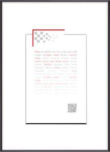 Kunststoffrahmen Gallery 50x70 cm schwarz