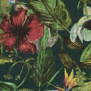 A.S. Création Blumentapete Greenery tropische Tapete Vliestapete grün rot gelb 10,05 m x 0,53 m