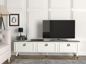 TV Lowboard Cornelia Weiß | B 180 cm x H 46,3 cm x T 35 cm