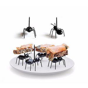 96x Ameisen Mini Kuchen Vorspeise Fruchtgabeln Party Picks Lovely Black Wiederverwendbar