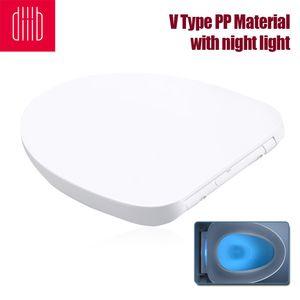 Xiaomi Youpin Diiib Toilettensitze Abdeckung Ersatz Universal Verdicken Slow-Close Toilettensitze Deckel mit Nachtlicht V Typ PP Material