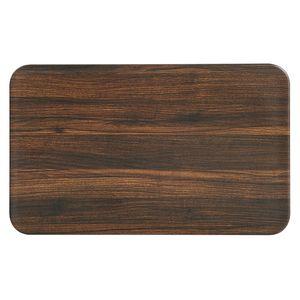 Kesper Frühstücksbrettchen Darkwood 23,5 x B 14,5 x H 0,4 cm, natur/braun