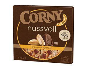 Corny Nussvoll Erdnuss und Vollmilchschokolade vier Riegel 96g