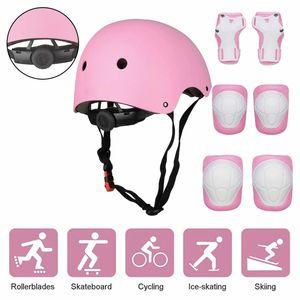 Schonerset Kinder Protektoren Schützer inliner Schutzausrüstung Kinder Knieschoner Set mit Helm für inliner Skateboard Fahrrad Rollschuh