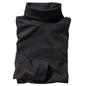 Schwarzes Redfield Rollkragen-Langarmshirt Übergröße, Größe:3XL
