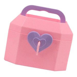 Schöne Schmuckschatulle Koffer für 18 Zoll Puppe Zubehör Rosa Schmuckkoffer wie beschrieben