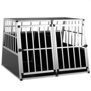 Cadoca Hundetransportbox Aluminium robust Hundebox Autotransportbox verschiedene Größen, Größe:Hundetransportbox XXL