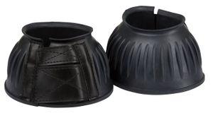 Springglocken Gummi, paarweise Klettverschluss,schwarz,Gr. S