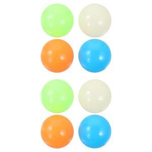 4 PCS 45mm Sticky Ball fluoreszierende Dekompression Stress Ball Spielzeug für die Decke
