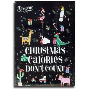 Erwachsenen Adventskalender mit Schokolade, Schoko Weihnachts Kalender, Spruch E