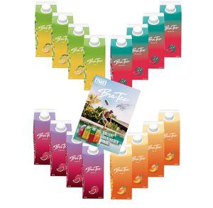 Capital BraTee 16er Tasting Set Eistee je 750ml + Autogrammkarte BRATEE Ice tea 4x Wassermelone 4x Zitrone 4x Pfirsich 4x Granatapfel - mit Capi-Qualitäts-Siegel