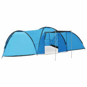 CampFeuer Tunnelzelt Camping-Igluzelt 650×240×190 cm 8 Personen Blau