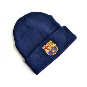 FC Barcelona Wappen Strick-Umschlagmütze BS1712 (Einheitsgröße) (Marineblau)