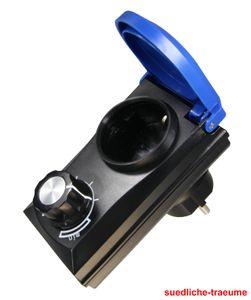 Leistungsregler, Drehzahlregler, für Teichpumpen bis max. 800 Watt