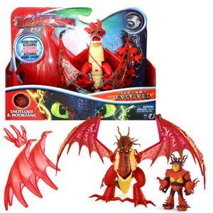 Drache Hakenzahn & Rotzbakke | DreamWorks Dragons | Spiel Set | Hookfang