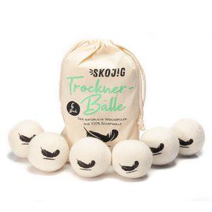 6 XXL Trocknerbälle aus Schafswolle   Trocknerkugeln bzw. Filzbälle natürliche Alternative zu Weichspüler   umweltschonend pflegend kostensparend zeitsparend wiederverwendbar   Naturprodukt Wäschetrockner
