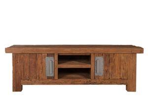 SIT Möbel TV-Lowboard | 2 Türen, 2 offene Fächer | recyceltes Teak natur | B 160 x T 45 x H 50 cm | 04421-01 | Serie CORAL