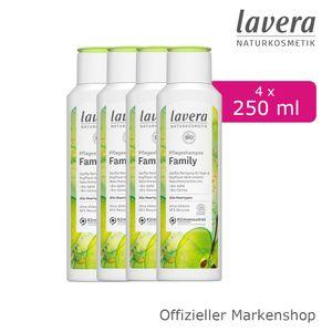 4x250ml lavera Pflegeshampoo Family Shampoo mit Bio-Apfel & Bio-Quinoa