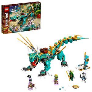 LEGO 71746 NINJAGO Dschungeldrache Bauset, mit Ninja Lloyd und Zane Minifiguren, Drache Spielzeug ab 8 Jahren für Jungen und Mädchen