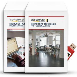 Microsoft Office 2019 Professional Plus und Windows 10 Professional auf einem bootfähigen 16GB USB 3.0-Stick von STOP Computer Service GmbH©