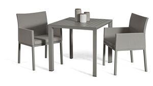 Grasekamp Terrassenset Sol 3 teilig - Tisch und 2x  Sessel aus Aluminium/Textilene