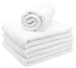 4er Set Saunatücher, 70x180 cm, 80% Baumwolle / 20%.Polyester, weiß